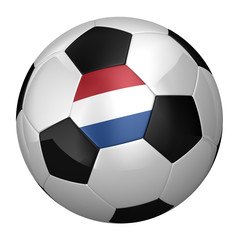 Dutch Soccer Ball isolated over white background