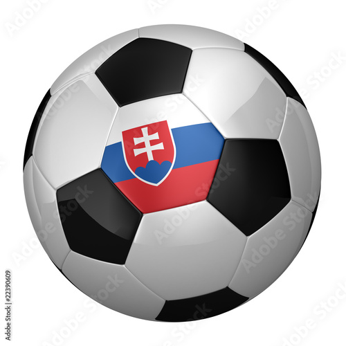 Slovakian Soccer Ball isolated over white background