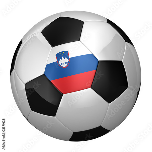 Slovenian Soccer Ball isolated over white background