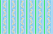 Vector Eps10 Seamless Blue Wallpaper Design with White Flowers