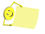Smilie mit Notizzettel