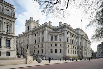 HM Treasury Building, Westminster, London, England, UK