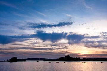 Sunset over Elizabeth Castle