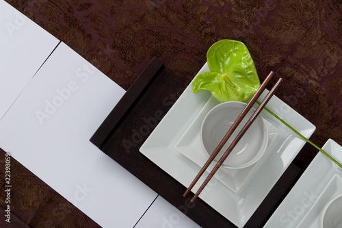 Dekoration asiatische tischdekoration mit anthurie von - Asiatische dekoration ...