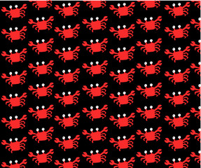 A lot of crab in a black background,wallpaper