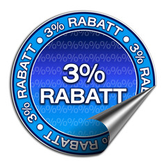 Aufkleber - 3% Rabatt (1-02)