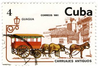 CUBA - CIRCA 1981: A stamp printed in Cuba