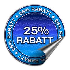 Aufkleber - 25% Rabatt (1-02)