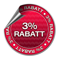 Aufkleber - 3% Rabatt (3-04)