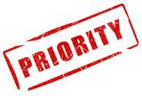 Priority stamp poster