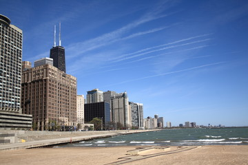 Chicago Skyline and Beach