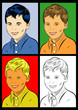 portrait pop art enfant