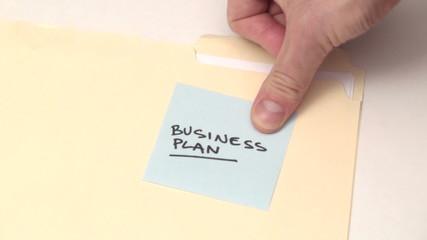 BUSINESS PLAN post it note - HD