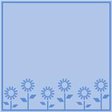 sfondo con fiori celesti poster
