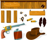 Set of a western objects