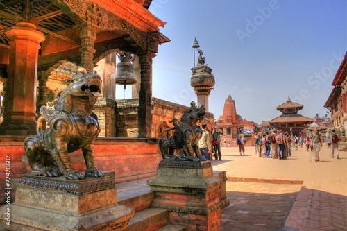 Foto Spatwand Nepal Temple in Bhaktapur (Nepal)