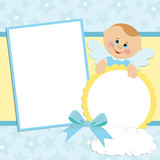 Template for baby's photo album