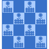sfondo patchwork blu poster