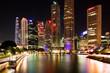 Quadro Singapur bei Nacht