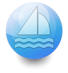 "Shiny Orb Button ""Sailing"""