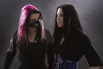 two goth girl