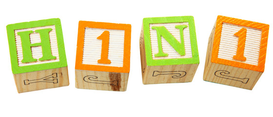 H1N1 in Alphabet Blocks