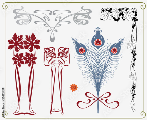 poster of treasures of historical design - art-nouveau (based on original)