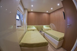 France, Cannes, luxury yacht Continental 80, guests bedroom poster