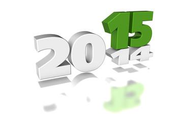 Silvester 2015 3d, grün weiss