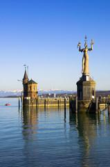 Hafen in Konstanz, Bodensee, Deutschland