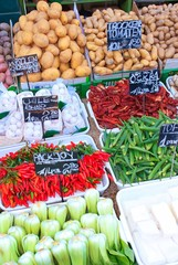 Fresh vegetables at local market