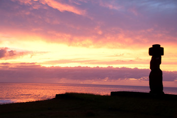 Sunset in Rapa Nui
