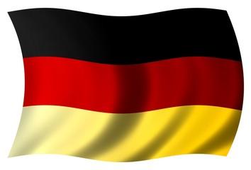 Grosse wehende Flagge Deuschland