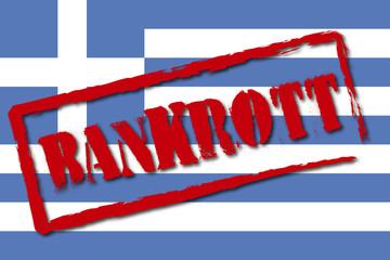 Griechenland - Stempel Bankrott