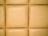 Tan Leather Upholstry Background with a Repetitive pattern poster