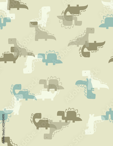 Four Little Dinos Camouflage