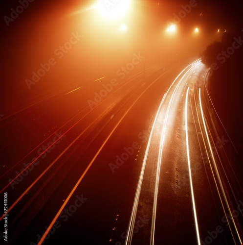 canvas print picture Highway Traffic