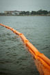 Floating Booms To Hold Back Oil Spill - 22442047
