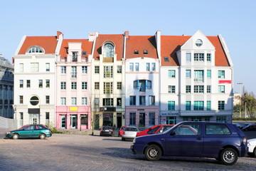 Moderne Häuserzeile