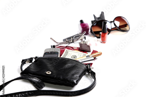 What's in woman purse inside