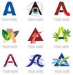 Ensemble d'Icones Lettre A pour Design Logos