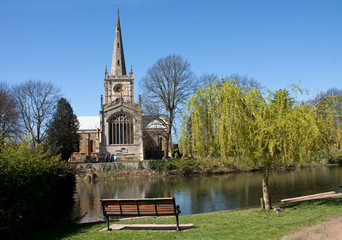 Holy Trinity Church and the River Avon