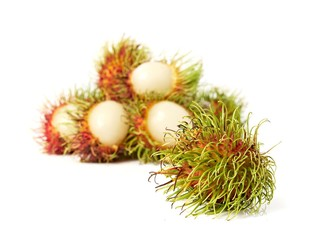 exotic Thai fruit Rambutan or Ngo