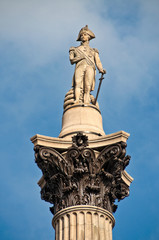 Nelson column on trafalgar square
