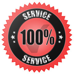 100% SERVICE - red