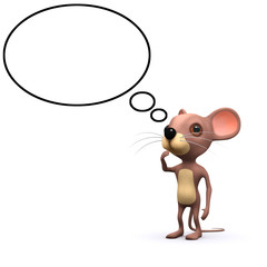 3d Thinking mouse