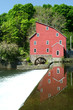 A old grist mill on a river