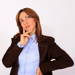 Woman thinking pose