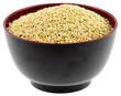 bol de graines de millet, fond blanc