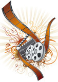 Fototapety film strip,movie theme element